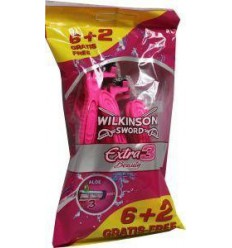 Wilkinson Extra III beauty 6 + 2 8 stuks | Superfoodstore.nl