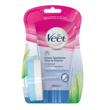 Ontharingsmiddelen Veet In shower gevoelige huid 150 ml kopen