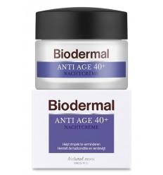 Biodermal Nachtcreme anti age 40+ 50 ml | Superfoodstore.nl