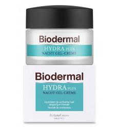 Biodermal Hydraplus nacht gelcreme vochtarme huid 50 ml |