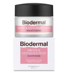 Biodermal Nachtcreme droge en gevoelige huid 50 ml |
