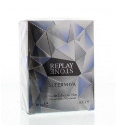 Replay Stone supernova for him eau de toilette 30 ml | € 20.15 | Superfoodstore.nl