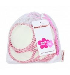 Imsevimse Wattenschijfjes wasbaar wit/roze 10 stuks |