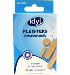 Idyl Pleister waterbestendig assorti 20 stuks | € 1.38 | Superfoodstore.nl