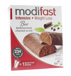 Modifast Snack & meal lunchreep melkchocolade 6 x 31 gram |