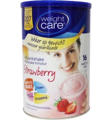 Weight Care Afslankshake aardbei 436 gram | Superfoodstore.nl