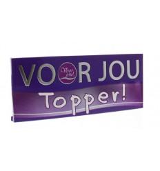 Voor Jou! Wensreep topper 100 gram | Superfoodstore.nl