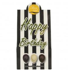 Voor Jou! Cadeau doos black & white happy birthday 100 gram |