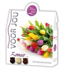 Voor Jou! Cadeau doos trendy bloemen zomaar 100 gram |