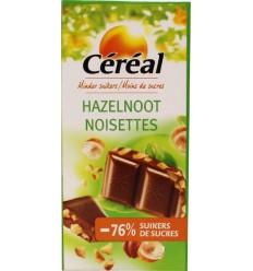 Cereal Tablet hazelnoot maltitol 80 gram | Superfoodstore.nl