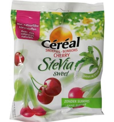 Suikervrij Snoep Cereal Snoep kersen stevia 120 gram kopen