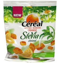 Cereal Snoep orange stevia 120 gram | Superfoodstore.nl