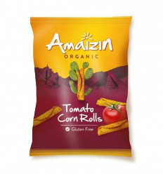 Amaizin Corn rolls bio tomaat 100 gram | Superfoodstore.nl
