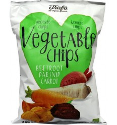Trafo Groente chips wortel/pastinaak/rode biet 75 gram | € 2.22 | Superfoodstore.nl