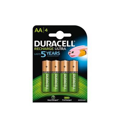 Batterijen Duracell Rechargeable AA 4 stuks kopen