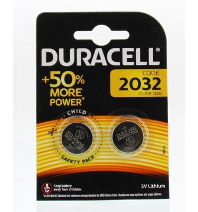 Batterijen Duracell Batterij dl/ 2032 cl/ 2032 3v litium 2 stuks kopen