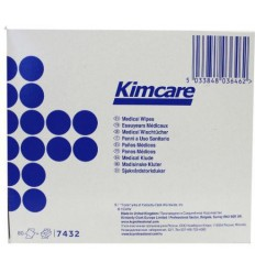 Kimcare Medical wipes 12 x 22 cm 80 stuks | € 1.38 | Superfoodstore.nl