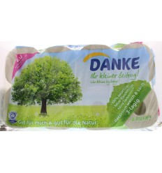 Danke Tissue toiletpapier 3-laags 8 rollen | € 6.26 | Superfoodstore.nl