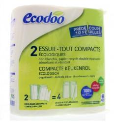 Ecodoo Keukenrol 2 stuks   Superfoodstore.nl