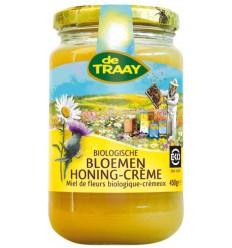 De Traay Bloemenhoning creme bio 450 gram | Superfoodstore.nl