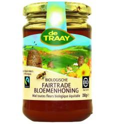 De Traay Bloemenhoning Fair trade bio 350 gram |