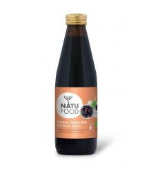 Natufood Zwarte bes oersap vitaal 330 ml | Superfoodstore.nl