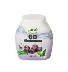 Stevija Stevia limonadesiroop go blackcurrant 40 ml |