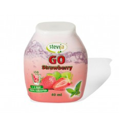 Stevija Stevia limonadesiroop go strawberry 40 ml |