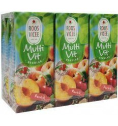Roosvicee Multivit perzik mini 200 ml 6 stuks | € 2.59 | Superfoodstore.nl