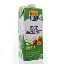 Isola Bio Rijstdrank hazelnoot 1 liter | Superfoodstore.nl