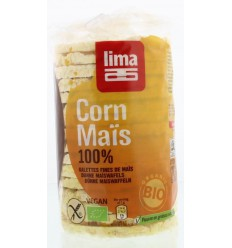 Lima Maiswafels natural fijn rond 120 gram | € 1.42 | Superfoodstore.nl