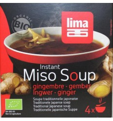 Lima Instant miso soep gember 4 x 15 gram 60 gram |