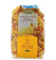 Bioidea Fusilli tricolore spirelli 500 gram | € 2.00 | Superfoodstore.nl