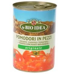 Bioidea Tomatenstukjes in blik 400 gram | Superfoodstore.nl