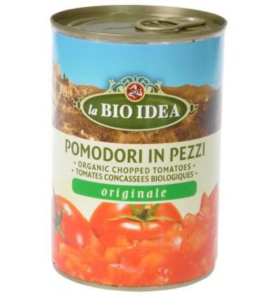 Conserven Bioidea Tomatenstukjes in blik 400 gram kopen