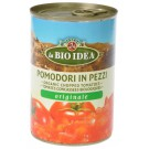 Bioidea Tomatenstukjes in blik 400 gram