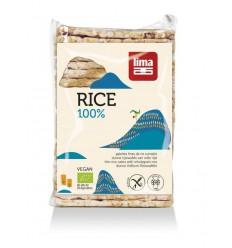 Lima Rijstwafels zout dun recht 130 gram | Superfoodstore.nl