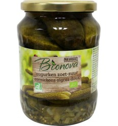 Bionova Augurken zoet zuur 670 gram | Superfoodstore.nl