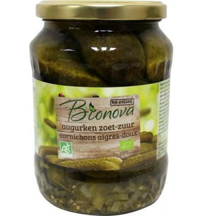 Conserven Bionova Augurken zoet zuur 670 gram kopen