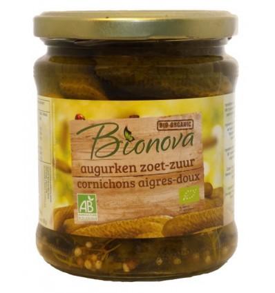 Conserven Bionova Augurken zoet zuur 330 gram kopen