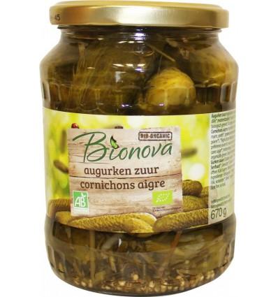 Bionova Augurken zuur 670 gram | € 3.16 | Superfoodstore.nl