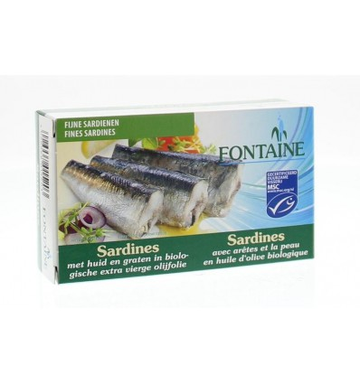 Fontaine Sardines met huid en graat 120 gram kopen