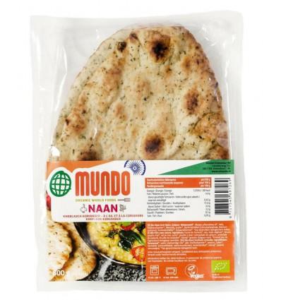 Omundo Naanbrood knoflook / koriander 240 gram kopen