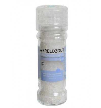 Esspo Wereldzout Himalayazout wit molen hervulbaar 105 gram