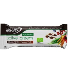 Organic Food Bar Bar active greens covered probiotica 68 gram | € 3.20 | Superfoodstore.nl