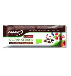 Organic Food Bar Bar active greens chocolade c protein 75 gram