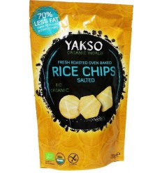 Yakso Rice chips salted 70 gram | € 1.65 | Superfoodstore.nl
