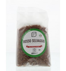 Greenage Rode rijst rosso selvaggio 400 gram | Superfoodstore.nl