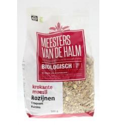 De Halm Krokante muesli rozijn 500 gram | Superfoodstore.nl