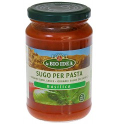 Bioidea Pastasaus basilicum 340 gram | Superfoodstore.nl